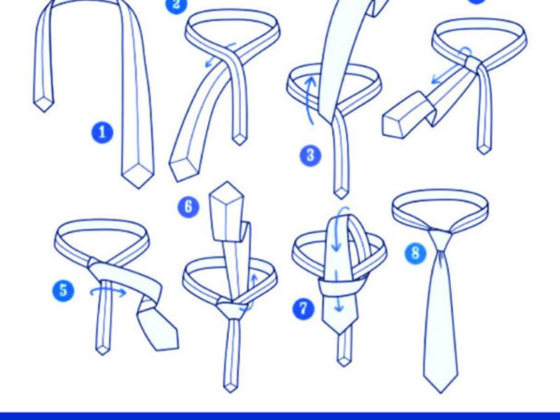 Легкий способ завязать галстук в картинках