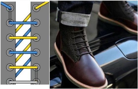 d32fb3df Как красиво завязать шнурки на ботинках, кроссовках, туфлях. Завязывание  шнурков
