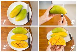 Как чистить манго быстро