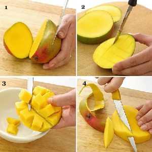 Трюки как почистить манго