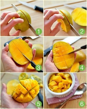 Как можно почистить манго