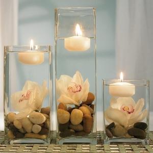 Оформление комнаты свечами