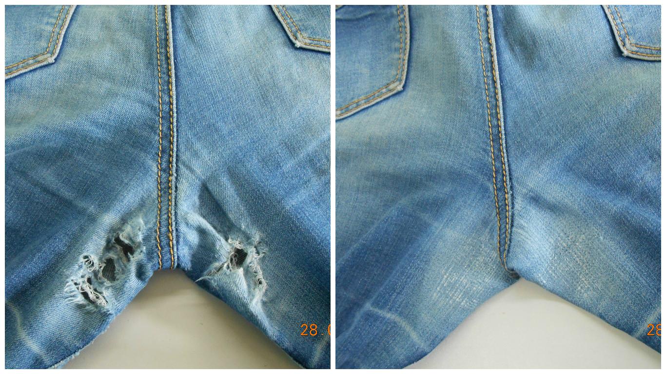 Как сделать заплатку на джинсах между ног фото 921