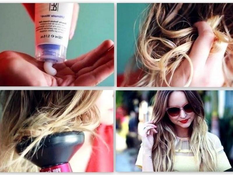 Поэтапная укладка волос диффузором