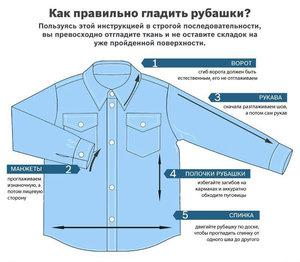 На каком режиме гладить сорочки