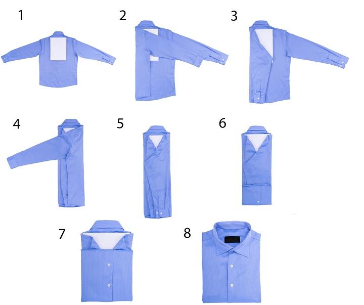 3fe575abc4ade29 Как сложить рубашки, чтобы они не помялись: основные методы упаковки ...
