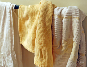 Как отстирать грязные полотенца