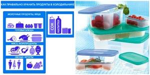 Хранение продуктов в холодильной камере