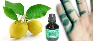 Применение раствора из водки либо спирта и лимонного сока