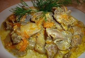 Как можно приготовить блюдо из куриных желудочек