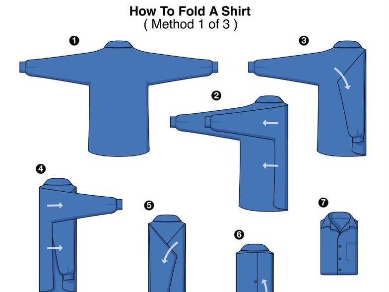 Как сложить рубашку для подарка 15