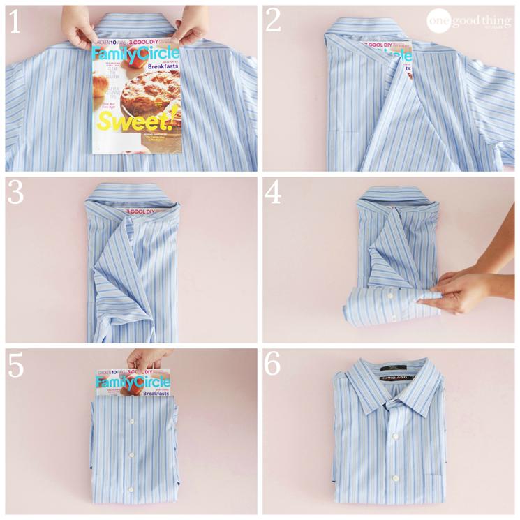 Как сложить рубашку для подарка 48