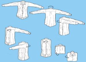Как упаковать рубашку