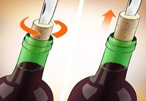 Открываем вино ножом.