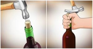 Как вытащить пробку из бутылки с помощью подручных средств