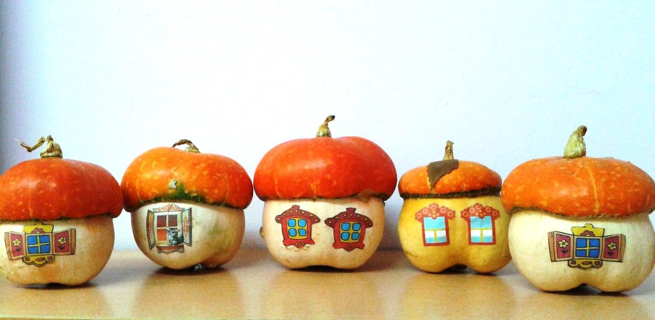 Поделки в детский сад из декоративной тыквы 89